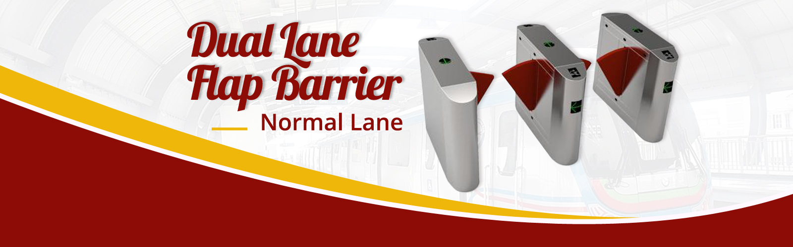 Dual Lane Flap Barrier <span> Easy to Operate