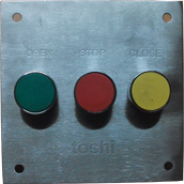 Open Stop Close Push Button in SS Plate
