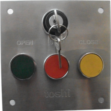 Open-Close-Stop Button with Key Switch in SS Plate